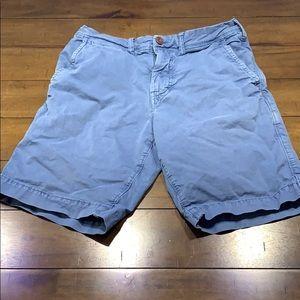 American Eagle Blue Khaki shorts
